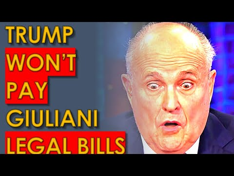 Trump REFUSES to Pay Rudy Giuliani Legal Bills after he BROKE LAW for Trump