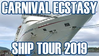 Carnival Ecstasy Ship Tour - Our Narrated Video Tour With Deck Plans - February 2019 - ParoDeeJay