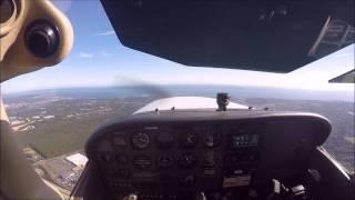 (HD) POV Flying C172 KISP