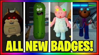 How To Get ALL 4 BADGES + SKINS/MORPHS In PIGGY ROLEPLAY! || Roblox