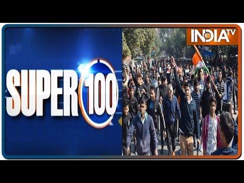 Super 100: Non-Stop Superfast | January 14, 2020 | IndiaTV News