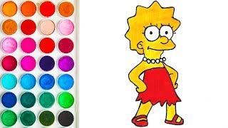 Drawing Lisa Simpson, Drawing for Kid