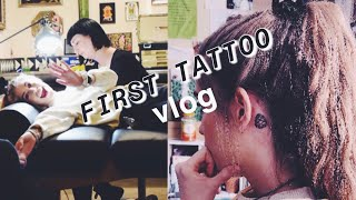 FIRST TATTOO EXPERIENCE!!! // Behind The Ear Reaction