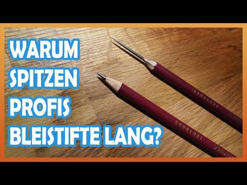 Warum spitzen Profis Bleistifte so lang? Vorteile und Nachteile einer lang gespitzten Bleistiftmine