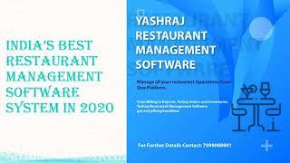 Get Restaurant Management Software System in India