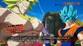 LSSJ Broly and Bardock Special Team Quotes-Dragon Ball FighterZ