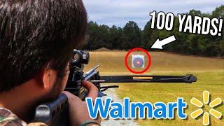 $97 Walmart Crossbow HUNTING CHALLENGE!