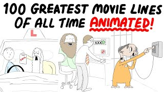 The 100 Greatest Movie Lines Of All Time, Animated!