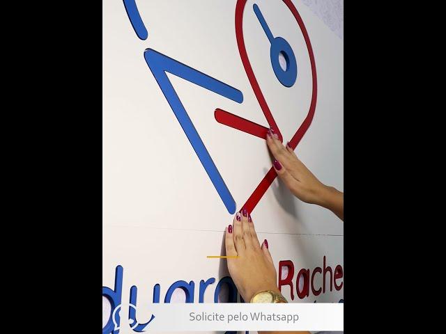 Logotipos de Parede em PVC EXPANDIDO