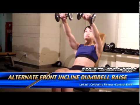Alternate Front Incline Dumbbell Raise
