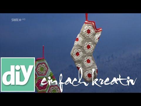 Socke Für Den Nikolaustag Häkeln Diy Einfach Kreativ