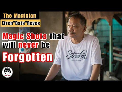 "Magic Shots that will never be FORGOTTEN   Efren""Bata""Reyes Shots"