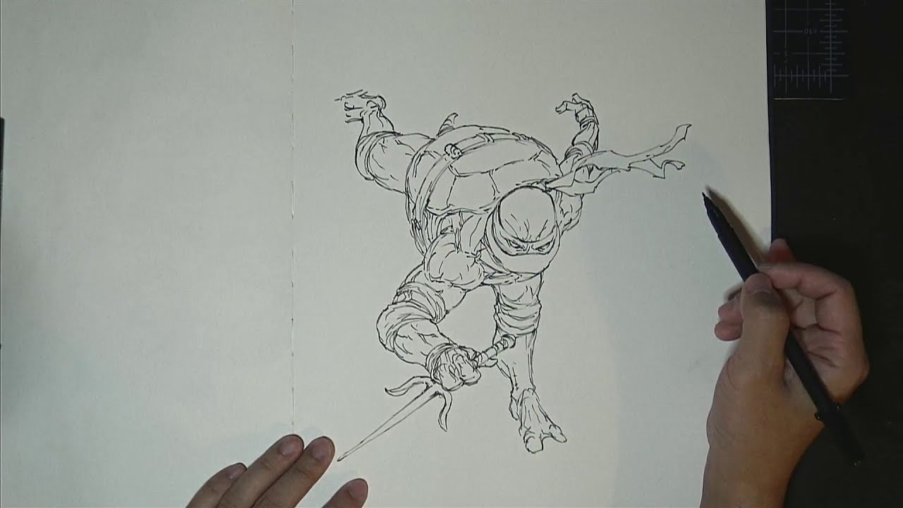 drawing ninja turtle by peter han