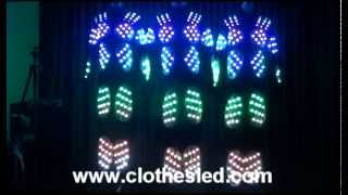 LED Show Jazz Dance Costumes The Laser Dance Clothes
