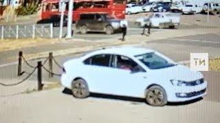 Появилось видео смертельного ДТП в Казани, в котором погибли школьница и ее мать