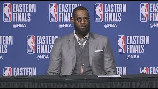 LeBron James Postgame Interview   Shows Off Memory From ECF Game 1 - Video Youtube