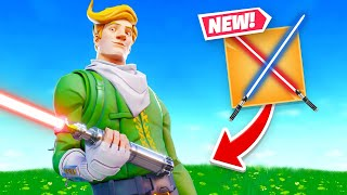 They Added LIGHTSABERS To Fortnite! (Star Wars)