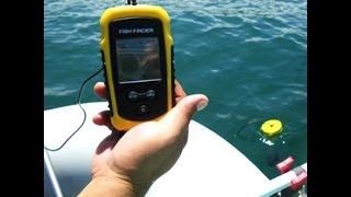 Portable sonar sensor fish finder alarm transducer на русском