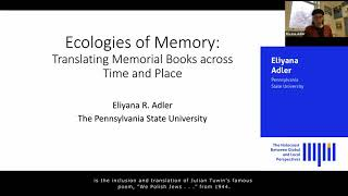 Ecologies of Memory: Translating Memorial Books across Time and Place
