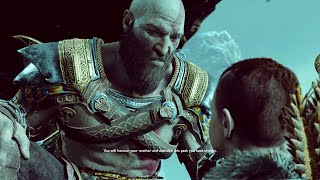 God of War 4 - Atreus Disrespects His Mother & Attacks Kratos, Kratos Gets Mad (GoW 2018) PS4 Pro