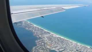 Landing in Sarasota/Bradenton SRQ... Delta MD-90...Great View of Gulf Of Mexico!!!