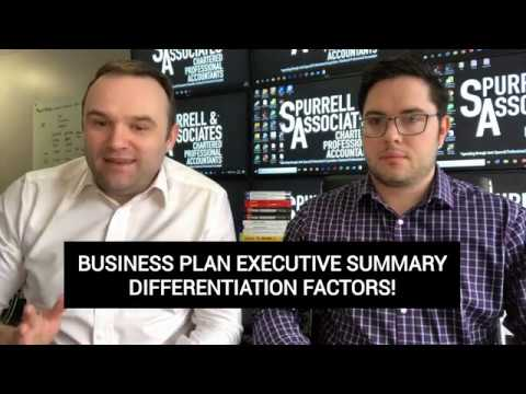 Business Plan Executive Summary Diffrerentiation Factors