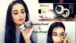 Music Flower Gel Eyeliner | Black & Green | SmudgeProof & WaterProof | SWATI BHAMBRA