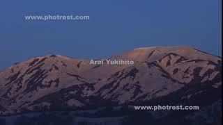 春の越後駒ヶ岳の夜明け
