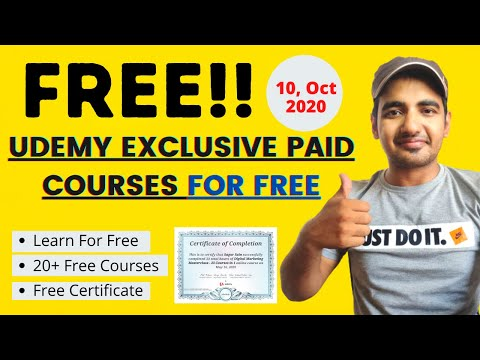 Udemy : 20+ Free Courses & Get Free e-Certificate of Completion ...