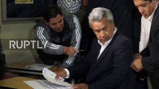 Ecuador: Outgoing Correa and presidential hopeful Moreno cast ballots in Quito