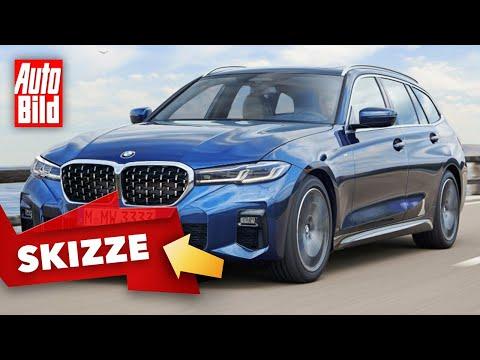 BMW 3er Facelift (2022) |Frischer 3er wird ein kleiner 5er |Skizze