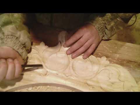Резьба по дереву. Изготовление трона в церковь часть №1.