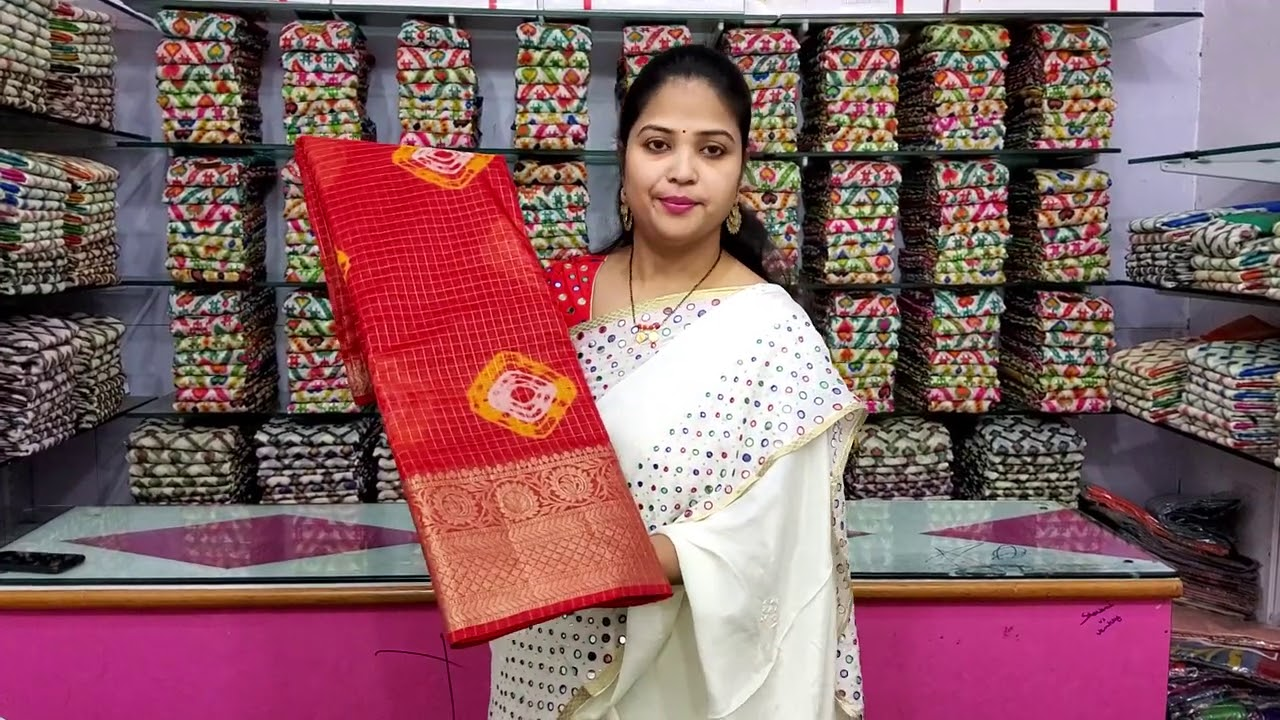 """<p style=""""color: red"""">Video : </p>Latest Kora With Shiboori Sarees Collection For Order Contact 7661976427/9866258504 2020-12-02"""