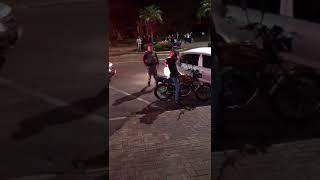 Motoqueiro é agredido por Brigadiano