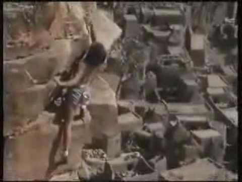 Catherine Destivelle climbing solo in Mali
