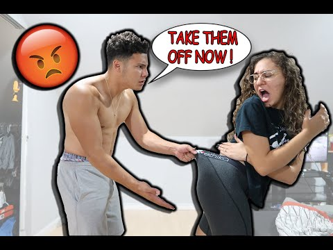 WEARING ANOTHER MANS BOXERS PRANK ON BOYFRIEND !!! (HE'S CRAZY)