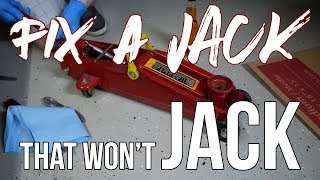 How to Fix a Hydraulic Jack that won't JACK