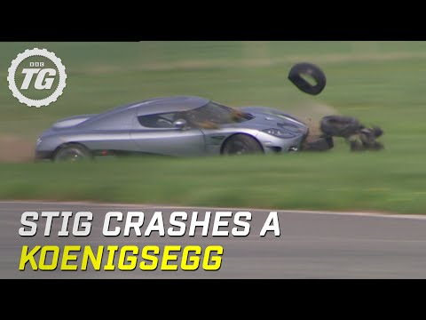 First Ever Crash for the Stig