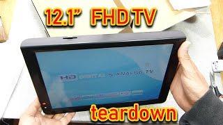 "Portable 12"" FHD LED TV treardown"