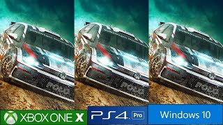 Dirt Rally 2.0 PS4 Pro vs Xbox One X vs PC Comparison, Frame Rate Test And EGO Engine Enhancements!