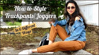How To Style Track Pants/Joggers | Trackpants Outfit Ideas | Himani Aggarwal