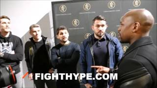 FLOYD MAYWEATHER EXPLAINS TO LIAM SMITH HOW HE BEAT CANELO; TALKS BOXING WITH ALL 4 SMITH BROTHERS