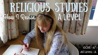 How I Revise for Religious Studies || A Level Study Tips (A grade at AS Level)