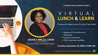 SCS Lunch and Learn: Financial Assistance with Jessica Wells, LCSW