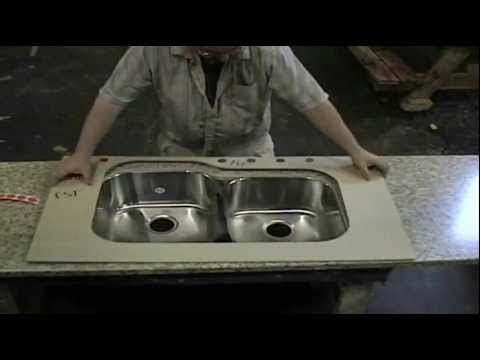 Interesting Process for Undermounting a Stainless Steel Sink to Laminate