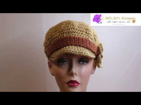 Gorra Crochet con Visera