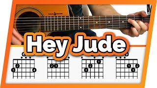 Hey Jude Guitar Tutorial (The Beatles) Easy Chords Guitar Lesson