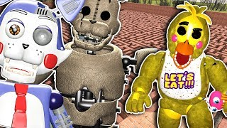 Five Nights At Candy's 2 & FNAF 2 Maze Run! - Garry's Mod - Gameplay FNAF Gmod