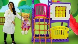 Puppen Video mit Doktor Aua - 2 Folgen am Stück - Steffi und Baby Born Puppe auf dem Spielplatz
