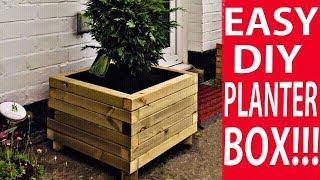 How To Make A Wooden Planter Box - The Easy Way To Build A DIY Planter Box   DIY Decor Ideas